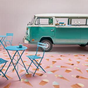 Vinyl custom flooring